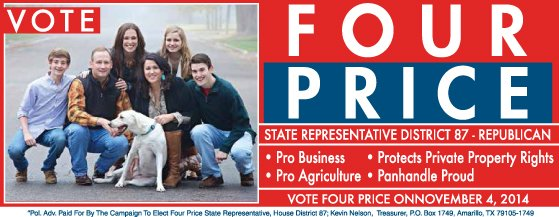 http://www.welcomepardner.com/web/our-pardners/728/four-price-for-state-representative/