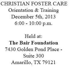 Christian Foster Care Orientation & Training