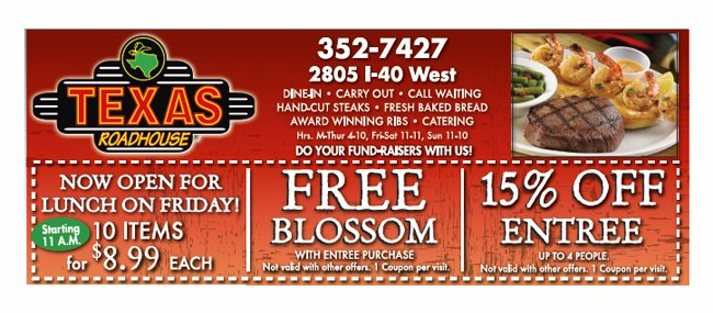 Texas roadhouse coupon code