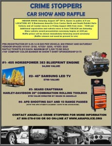 Crime Stoppers Car Show & Raffle @ Amarillo Civic Center North and South Exhibit Halls   Amarillo   Texas   United States