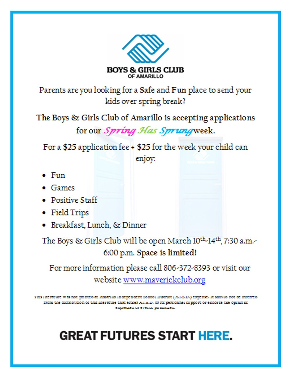 Boys & Girls Club - Spring Has Sprung