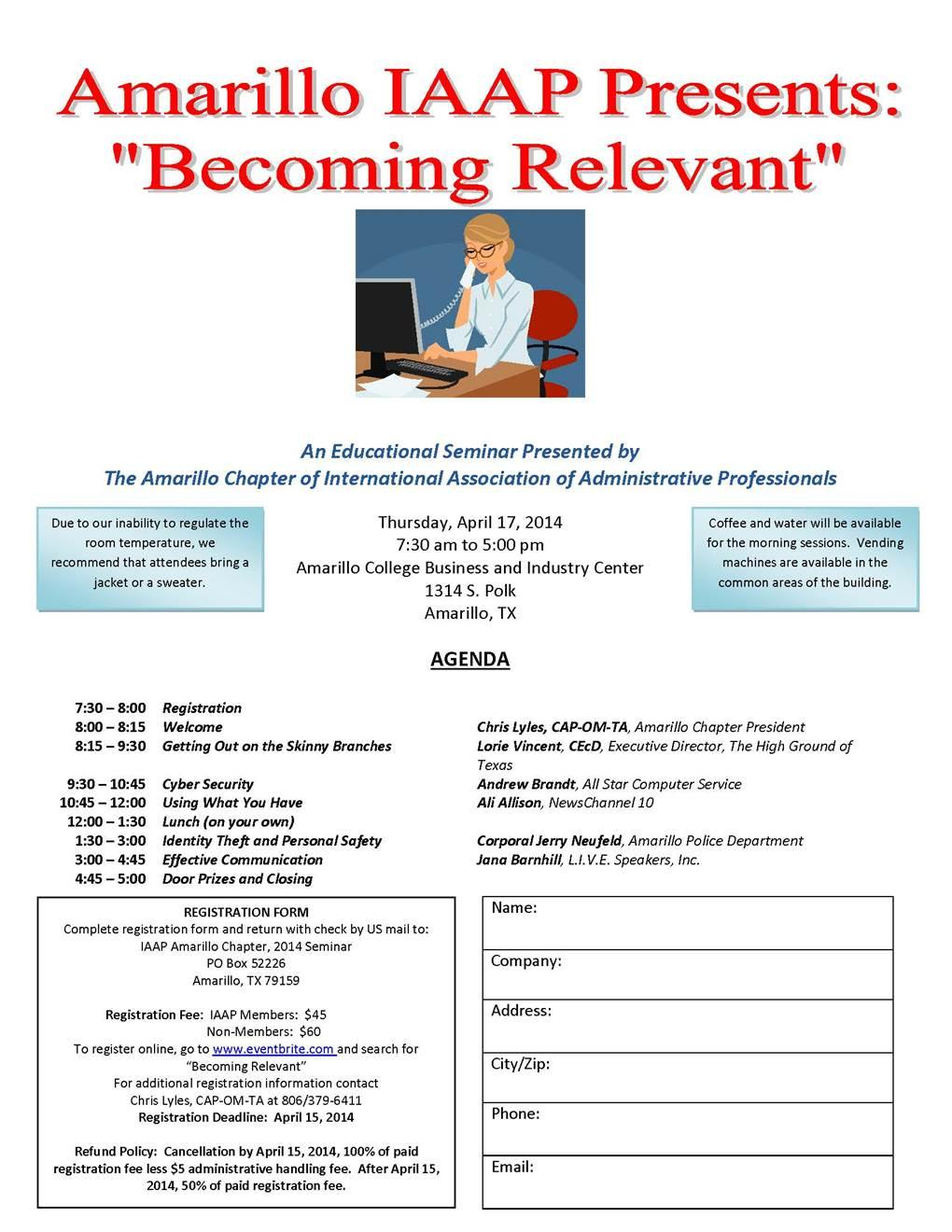 Amarillo IAAP Presents - Becoming Relevant