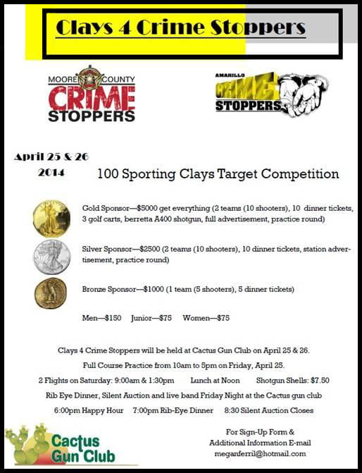 Clays 4 Crime Stoppers