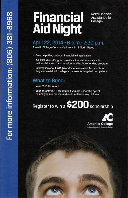 Amarillo College Financial Aid Night