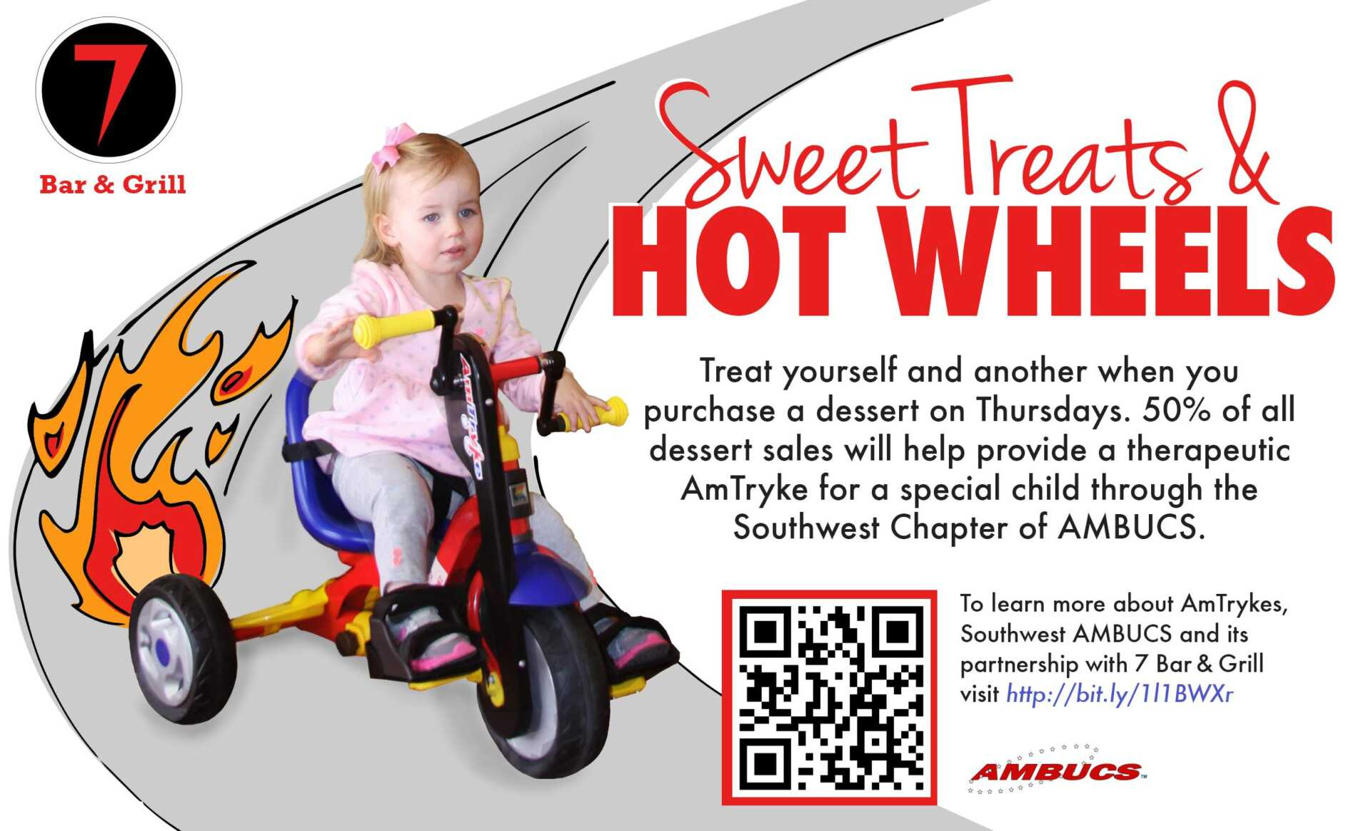 7 Bar & Grill AMBUCS Sweet Treats and Hot Wheels