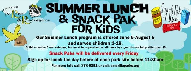 Summer Lunch and Snack Pak for Kids
