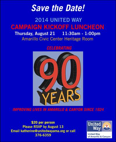 2014 United Way Campaign Kickoff Luncheon @ Amarillo Civic Center | Amarillo | Texas | United States
