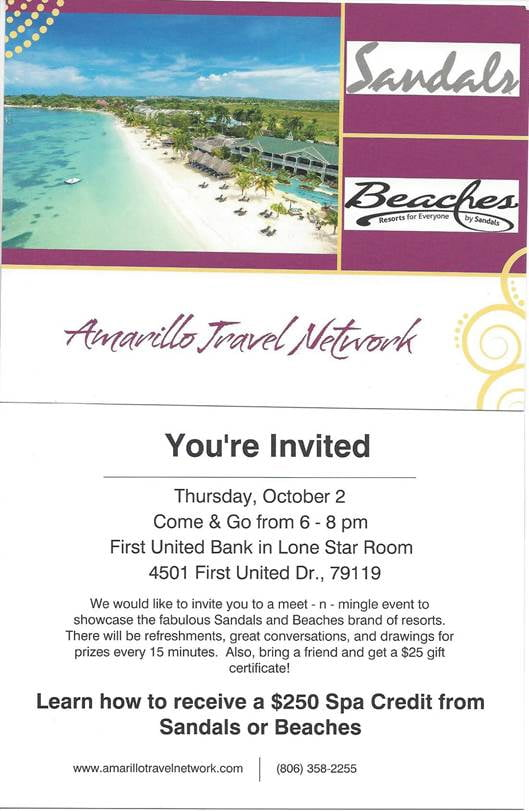 Amarillo Travel Network - Sandals and Beaches
