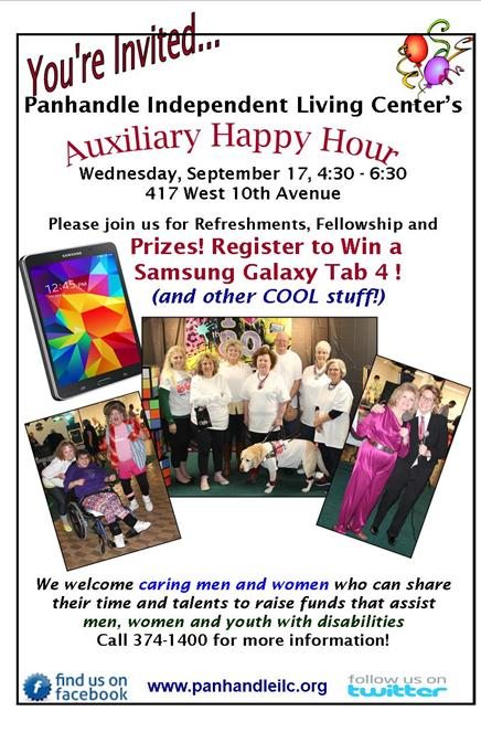 Panhandle Independent Living Center Auxiliary Happy Hour
