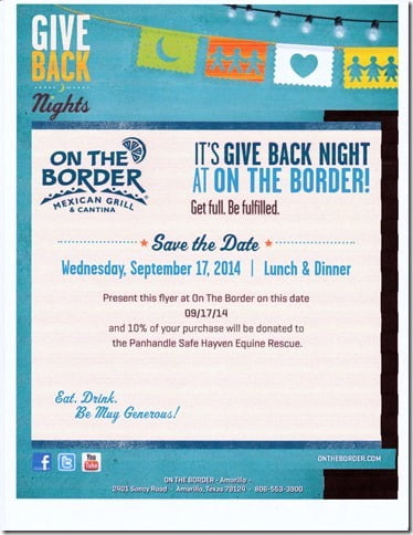 Give Back Night at On the Border