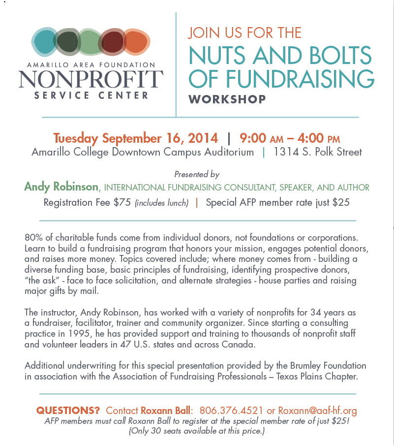 Nuts and Bolts of Fundraising Workshop