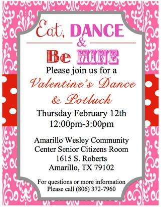Amarillo Wesley Senior Citizens Valentines Dance @ Amarillo Wesley Community Center  | Amarillo | Texas | United States