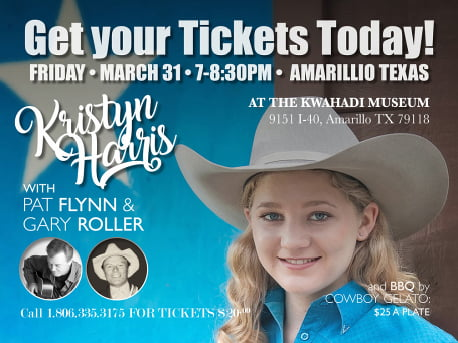 Kristyn Harris, Entertainer of the Year! To perform at Kwahadi Museum (dinner available: see details) @ Kristyn Harris, Entertainer of the Year! To perform at Kwahadi Museum | Amarillo | Texas | United States
