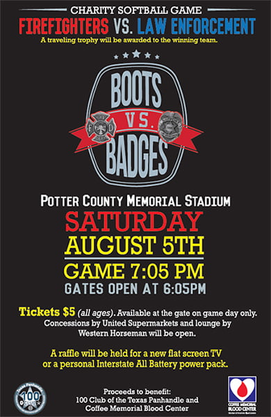Charity Softball - Firefighters vs. Law Enforcement @ Potter County Memorial Stadium | Amarillo | Texas | United States
