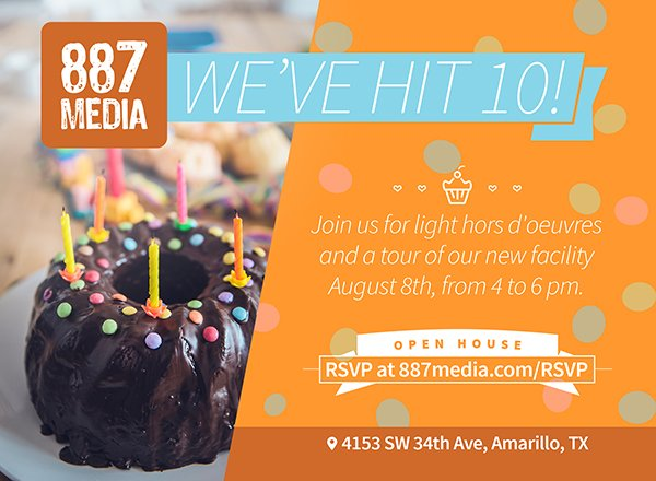 887 Media is 10! Open House Ribbon Cutting! @ 887 Media is 10! Open House Ribbon Cutting! | Amarillo | Texas | United States