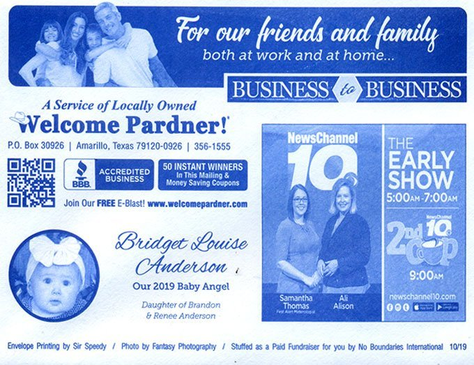 Business to Business Welcome Pardner Supports All Local Business