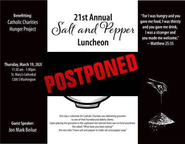 **POSTPONED** 21st Annual Salt  & Pepper Luncheon benefiting Catholic Charities Hunger Project @ 21st Annual Salt & Pepper Luncheon benefiting Catholic Charities Hunger Project | Amarillo | Texas | United States