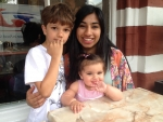 Hani Baluch with niece and nephew - Aliana and Noah August 2014.jpg